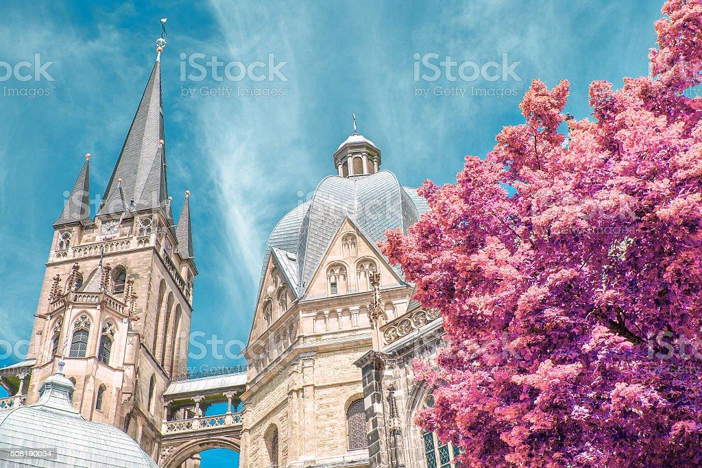 Aachener Dom stock photo