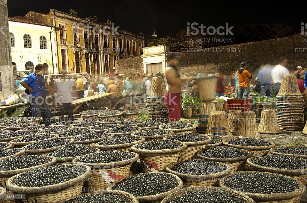 Açai market for editorial stock photo
