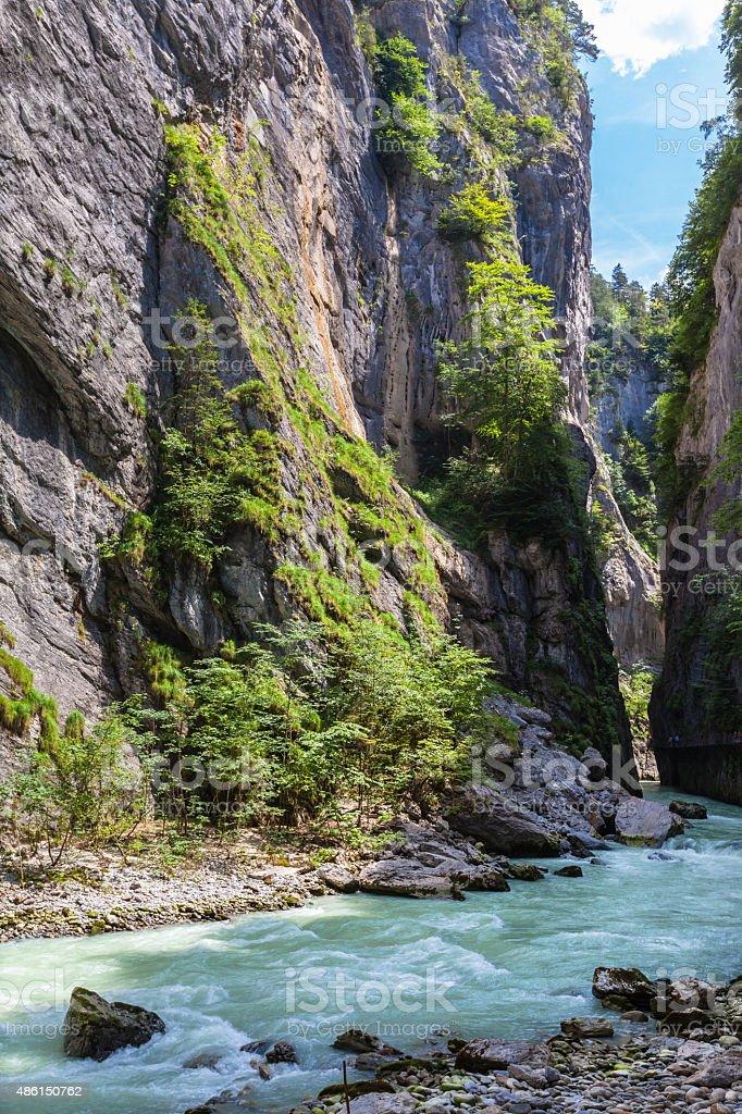 Aare Gorge in Switzerland stock photo