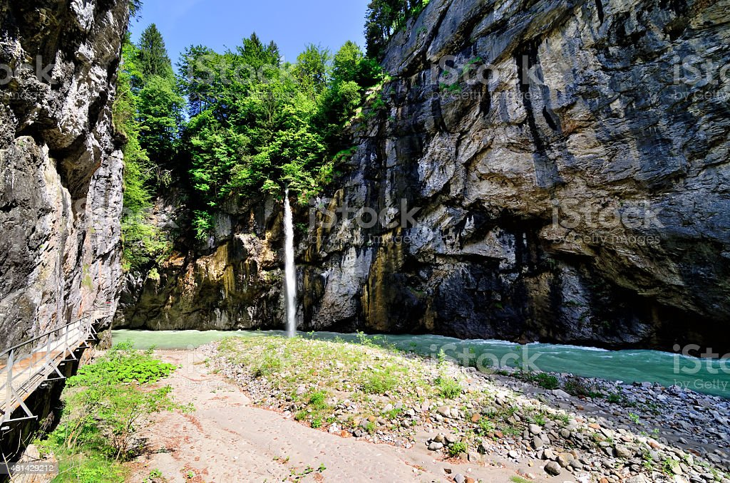 Aare Gorge stock photo