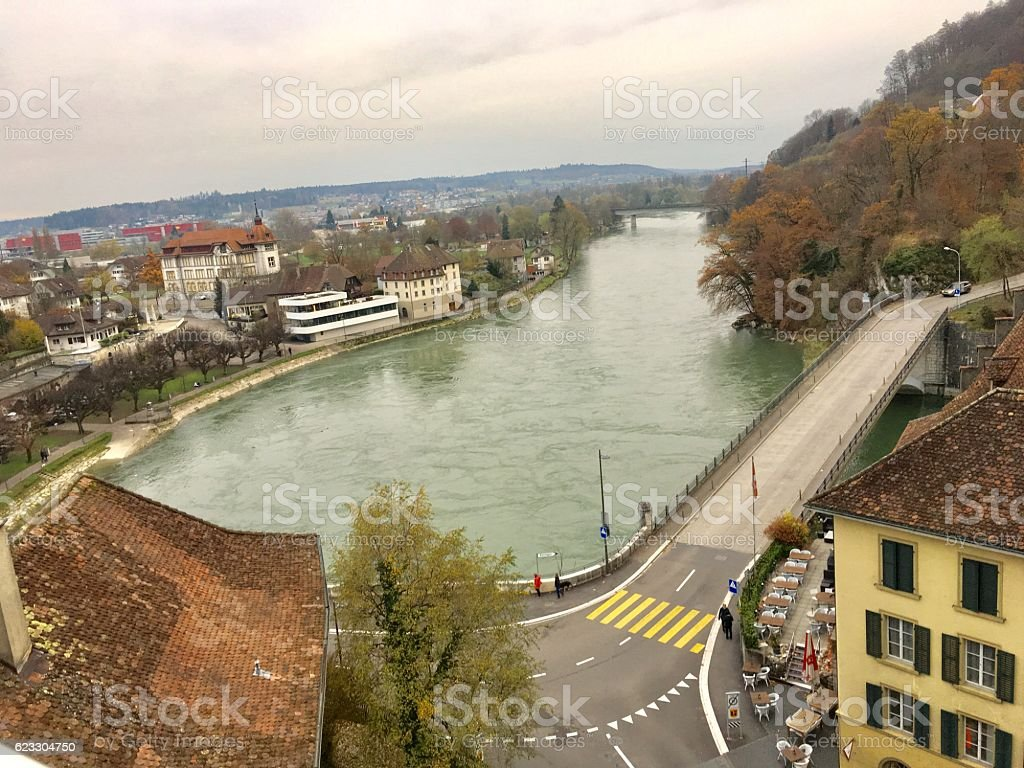 Aare River stock photo