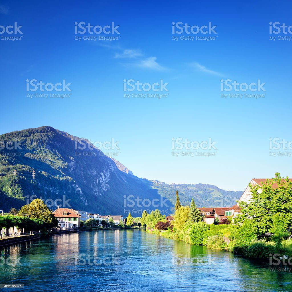 Aare river, Switzerland stock photo