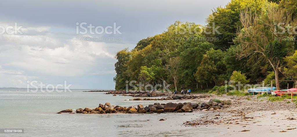 Aarhus coastline in summer stock photo