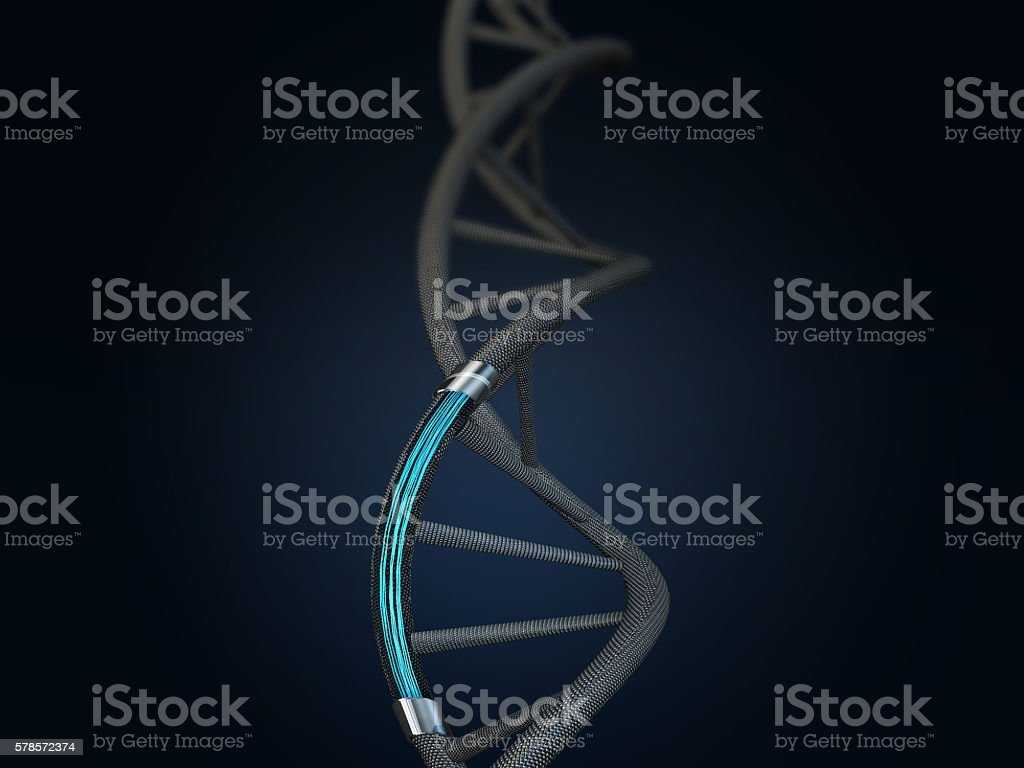 Aartificial intelligence of DNA structure. stock photo
