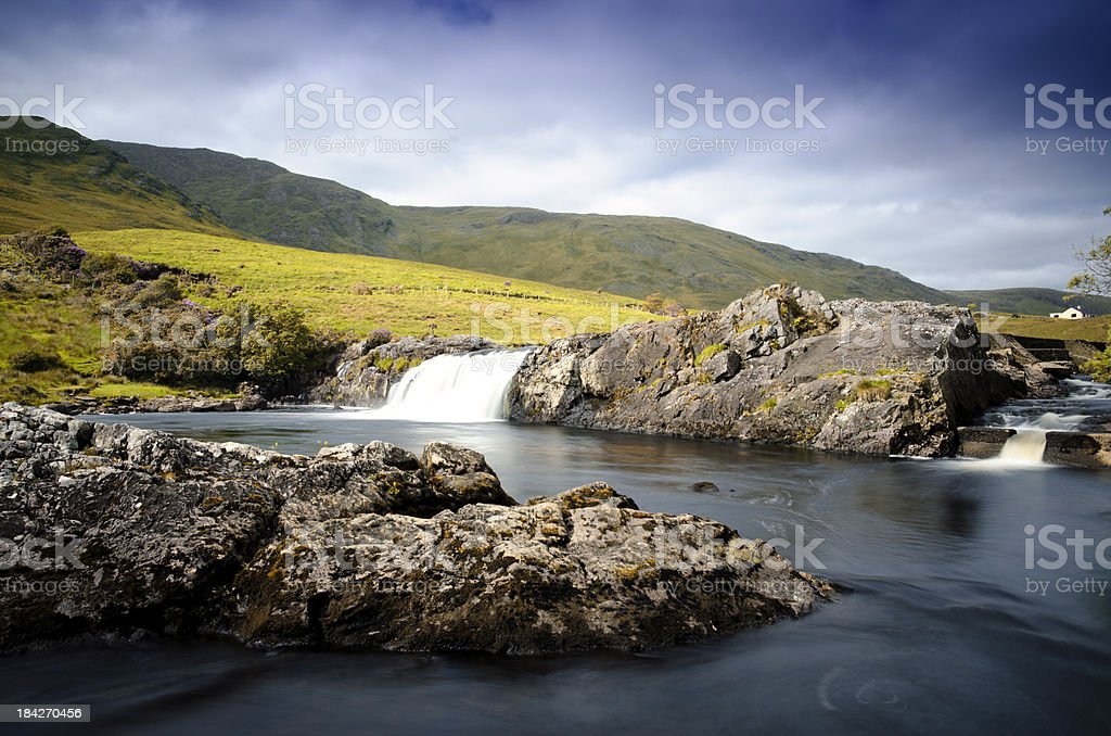 Aasleagh Falls stock photo