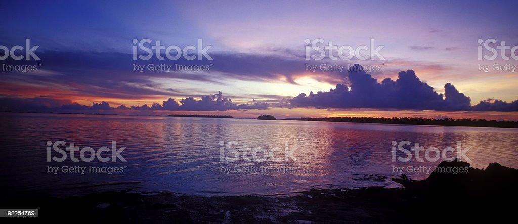 Abaco at sun set stock photo