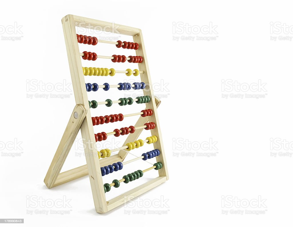 abacus isolated on white background royalty-free stock photo