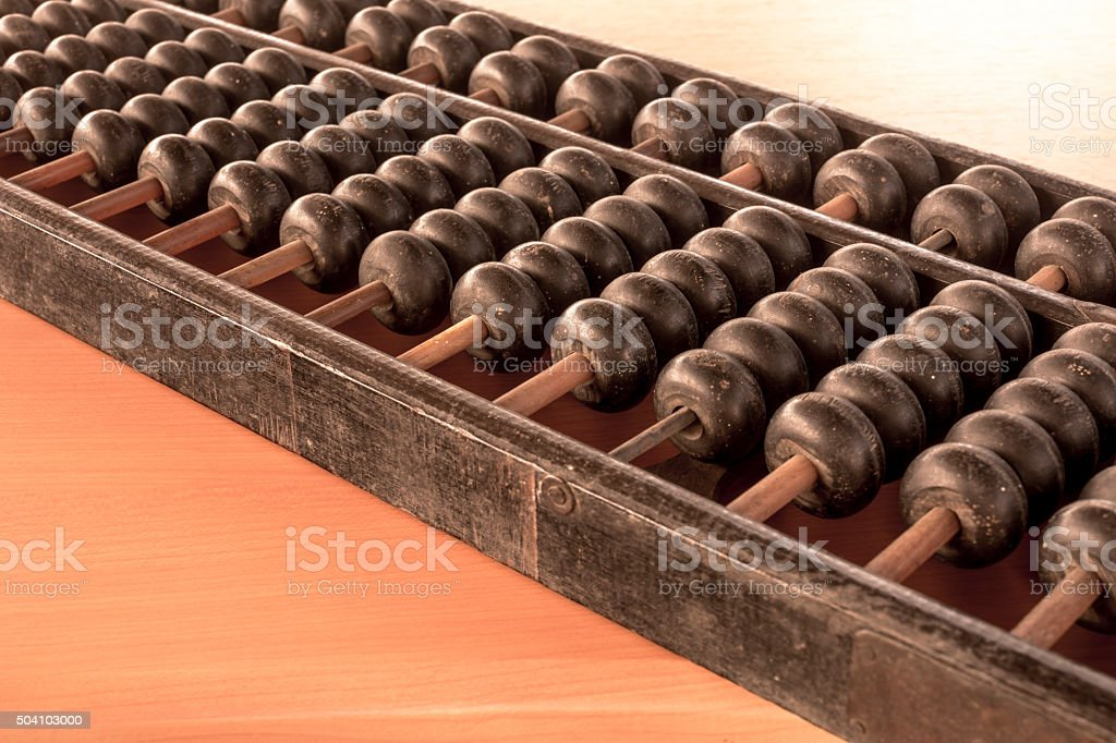 Abacus.  Old equipment for calculation royalty-free stock photo