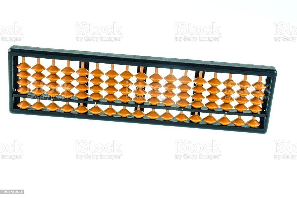 Abacus on white background stock photo