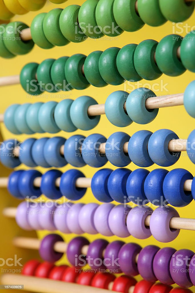 Abacus Vertical royalty-free stock photo