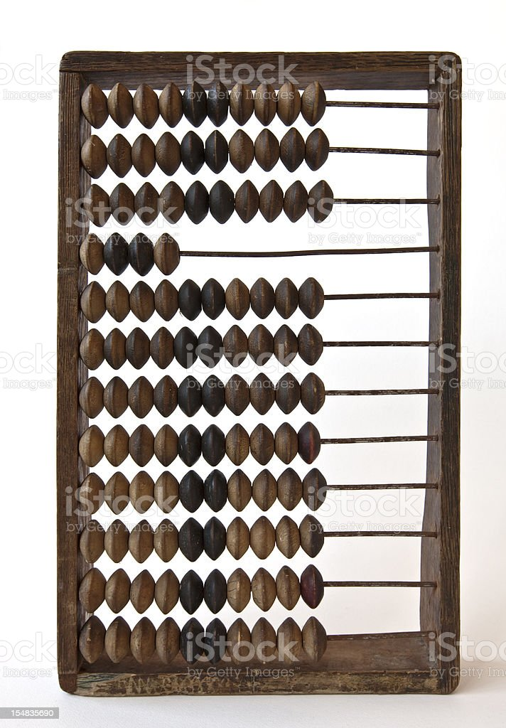 Abacus vintage wooden counting frame. royalty-free stock photo
