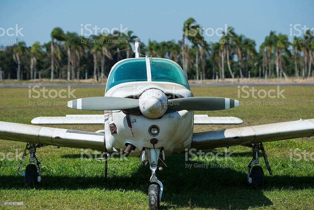 Abandon Aircraft stock photo