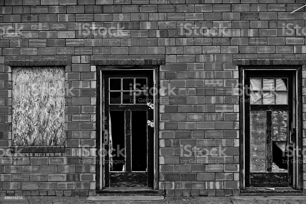 Abandon hotel stock photo