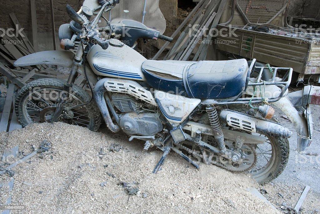 Abandon motorcycle stock photo