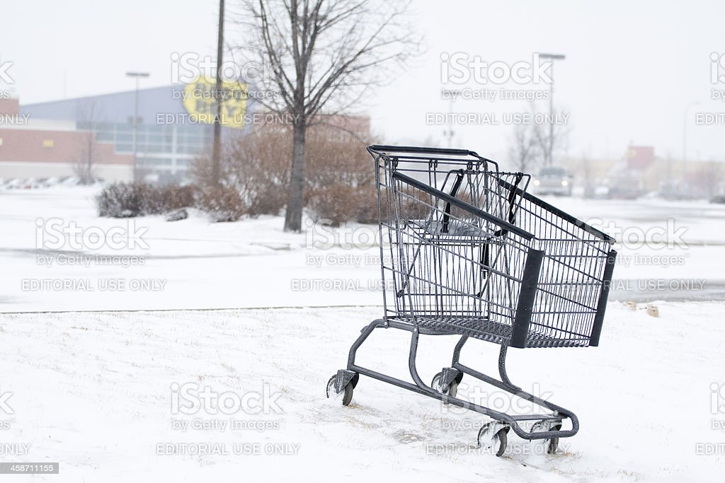 Abandon Shopping Cart royalty-free stock photo