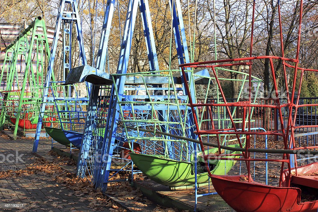 Abandond Amusment Park stock photo