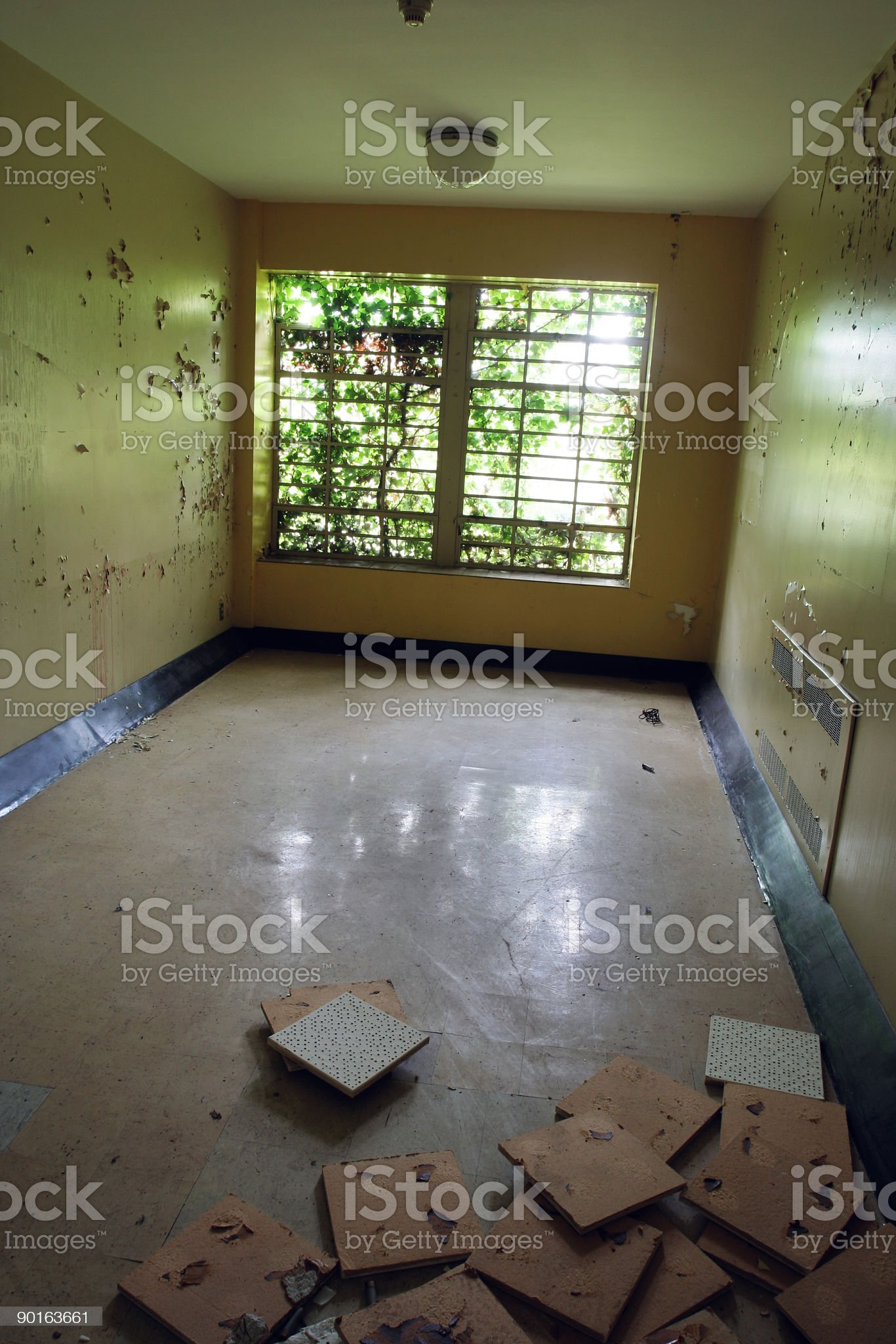 Abandonded Room in an Insane Asylum royalty-free stock photo