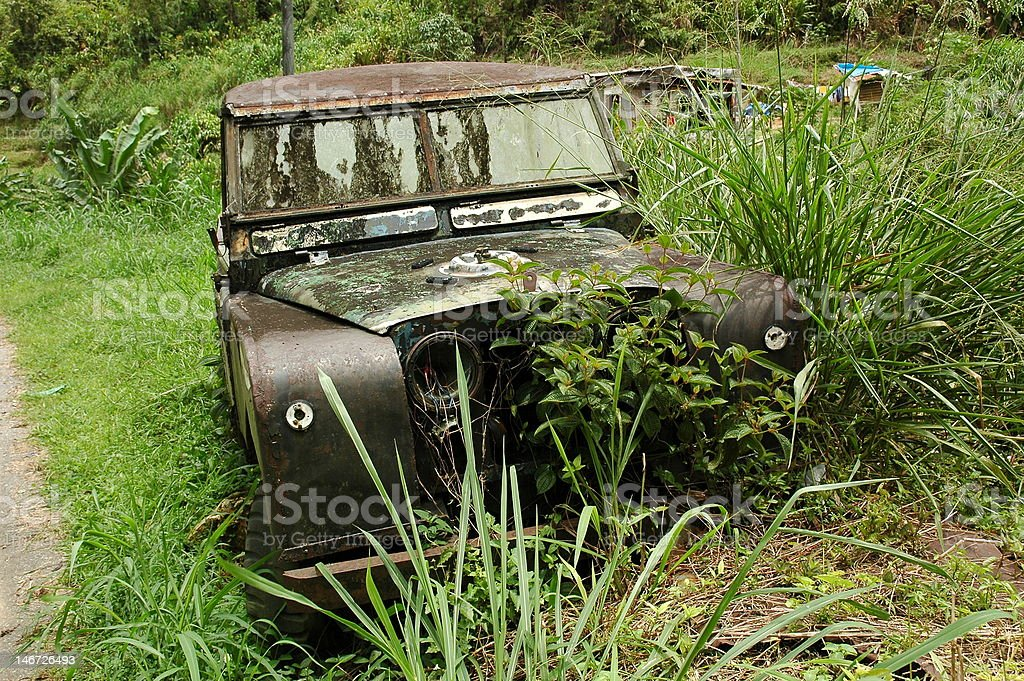 Abandoned 4WD stock photo