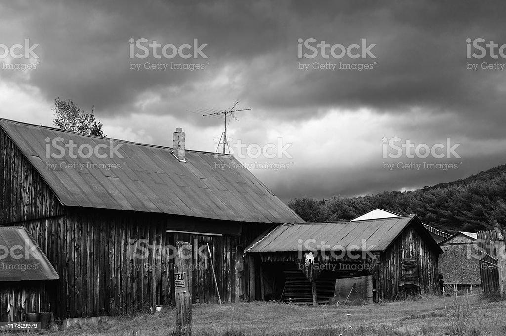 Abandoned Adirondack Farm stock photo