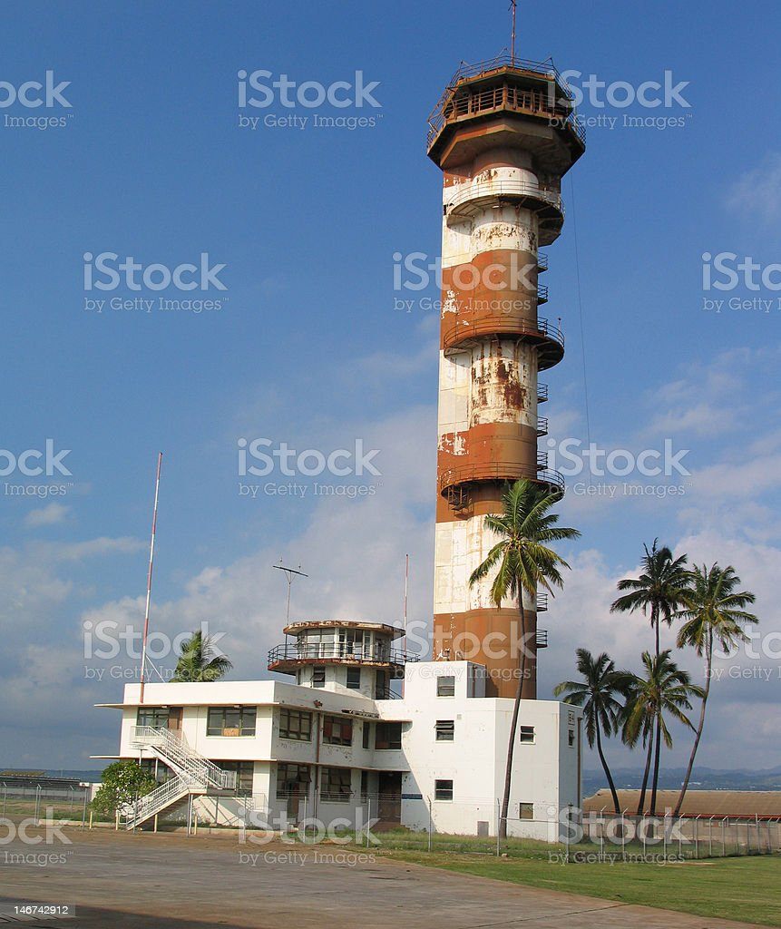 Abandoned Air Traffic Control Tower royalty-free stock photo
