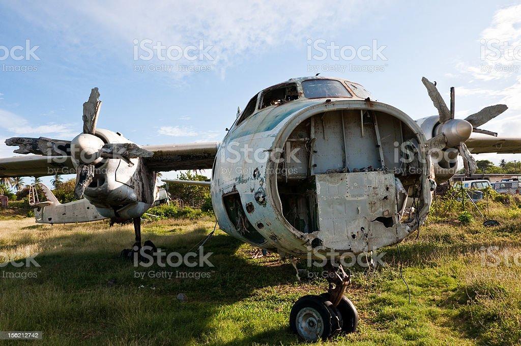 Abandoned Airplane royalty-free stock photo