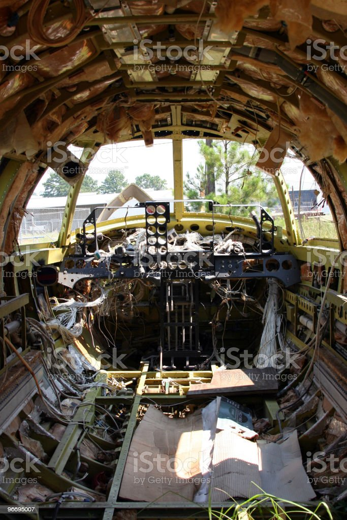 Abandoned airplanes stock photo