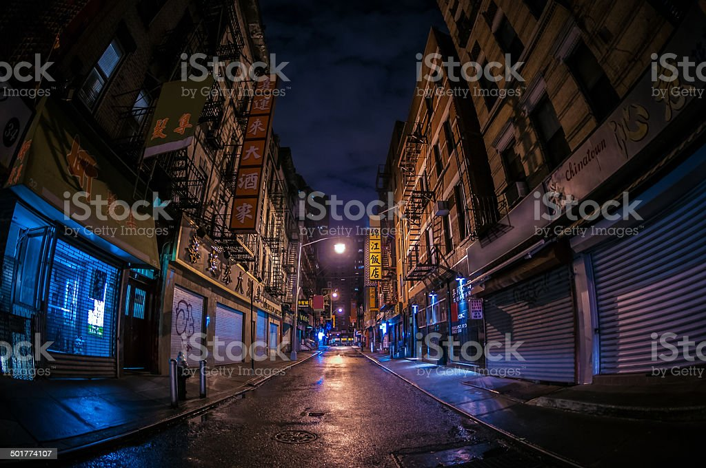 Abandoned Alley in Chinatown stock photo