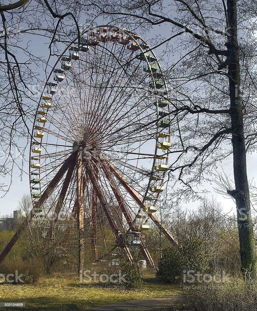Abandoned Amusement Park stock photo