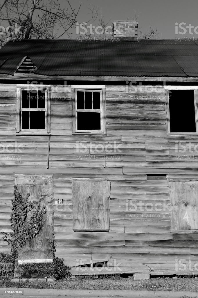 Abandoned and empty royalty-free stock photo