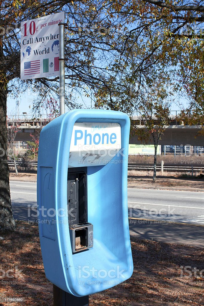 Abandoned And Out of Service Public Phone royalty-free stock photo