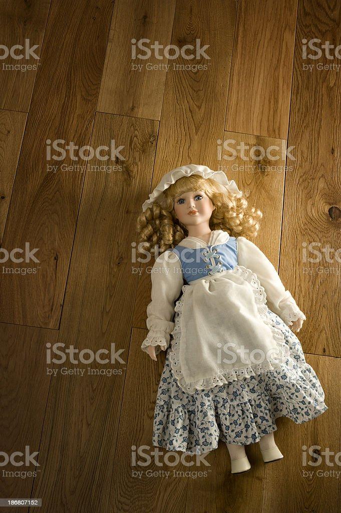 Abandoned Antique Doll stock photo