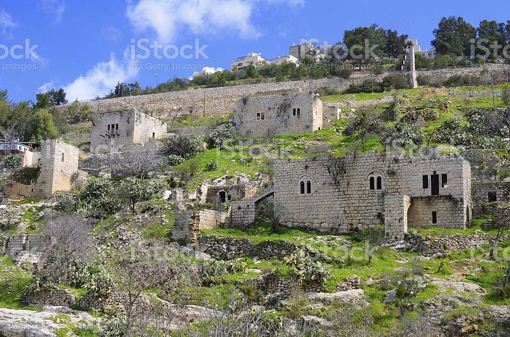 Abandoned Arab Village royalty-free stock photo