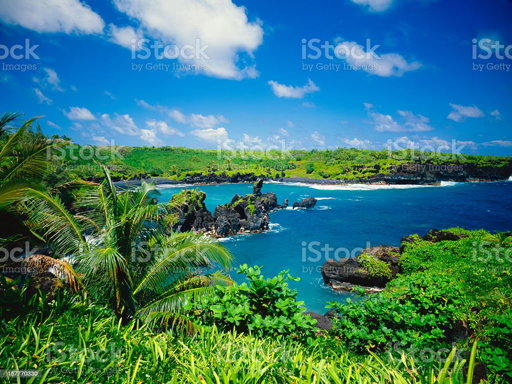 Abandoned Ariel view of Maui Coastline located in Hawaii royalty-free stock photo