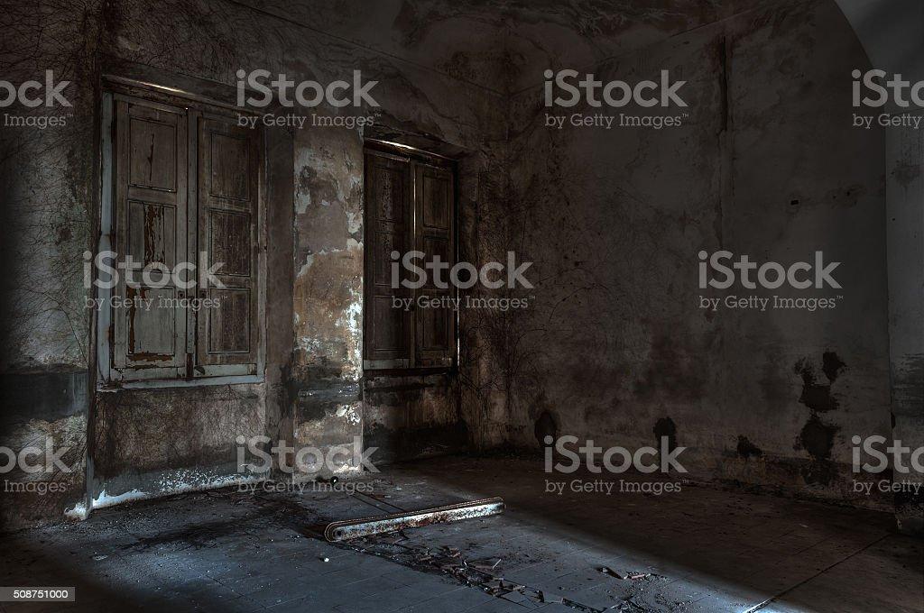 abandoned asylum stock photo