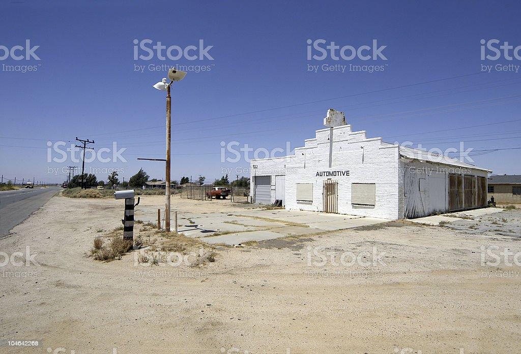 Abandoned auto shop royalty-free stock photo