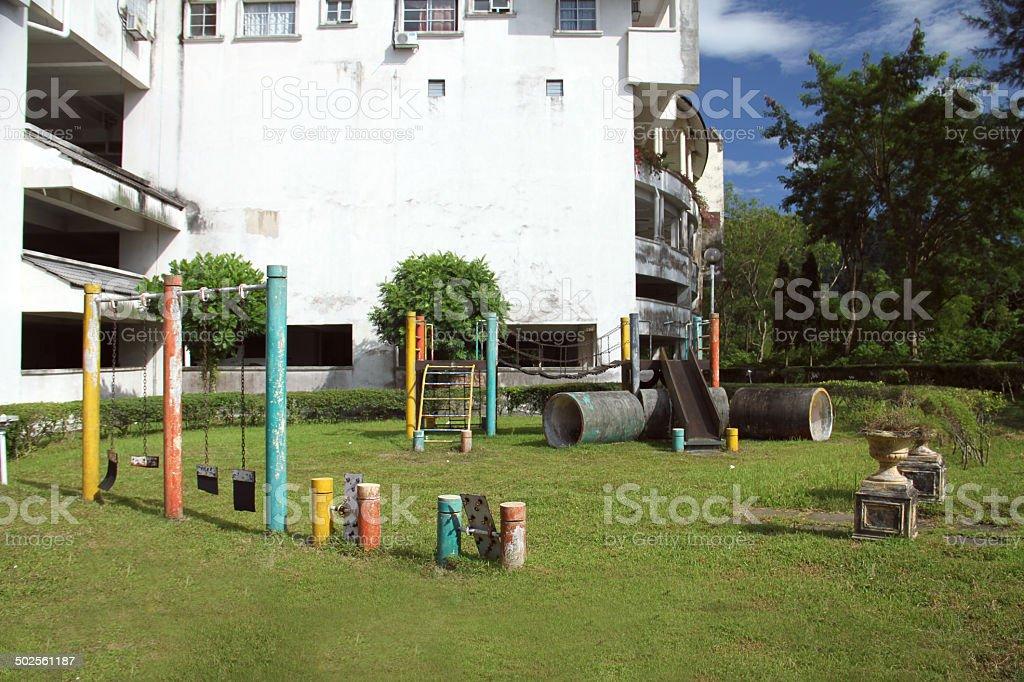 Abandoned Backyard Playground royalty-free stock photo