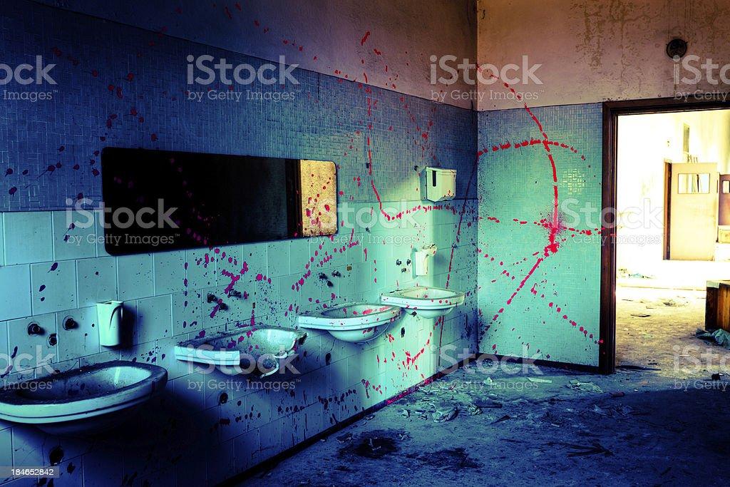 Abandoned bathroom HDR royalty-free stock photo