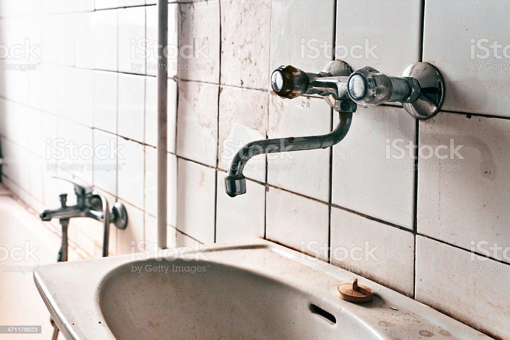 Abandoned bathroom royalty-free stock photo