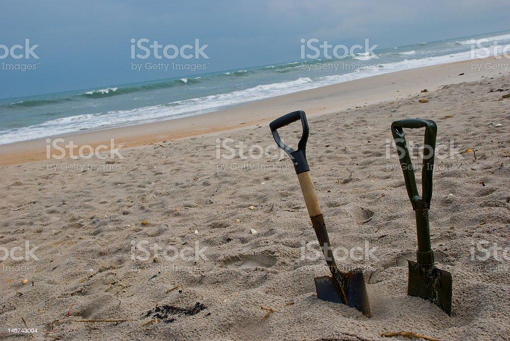 Abandoned Beach stock photo