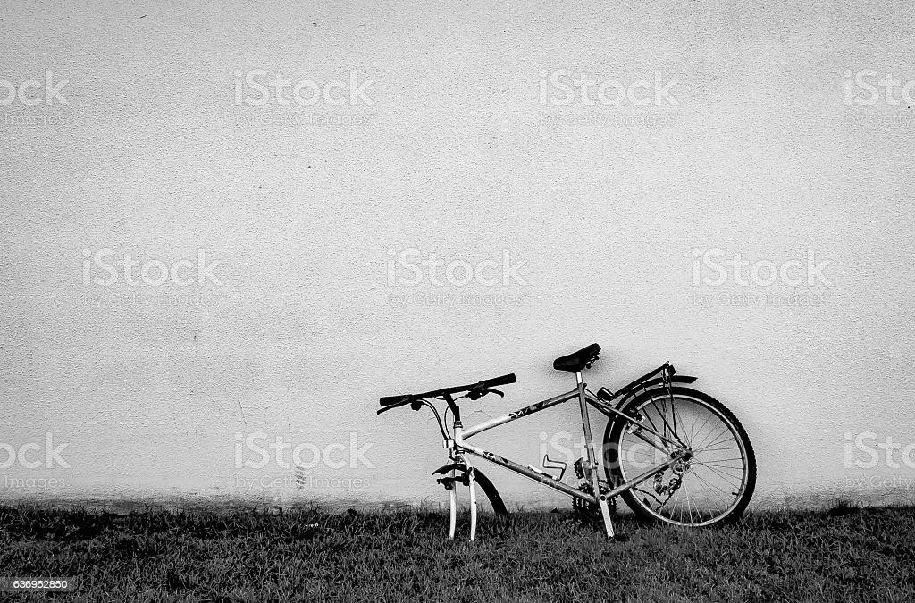 Abandoned bike stock photo