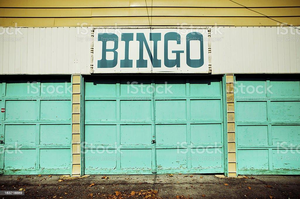 abandoned bingo stand stock photo