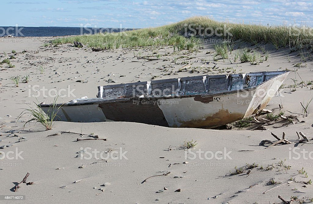 Abandoned Boat - New Brunswick stock photo