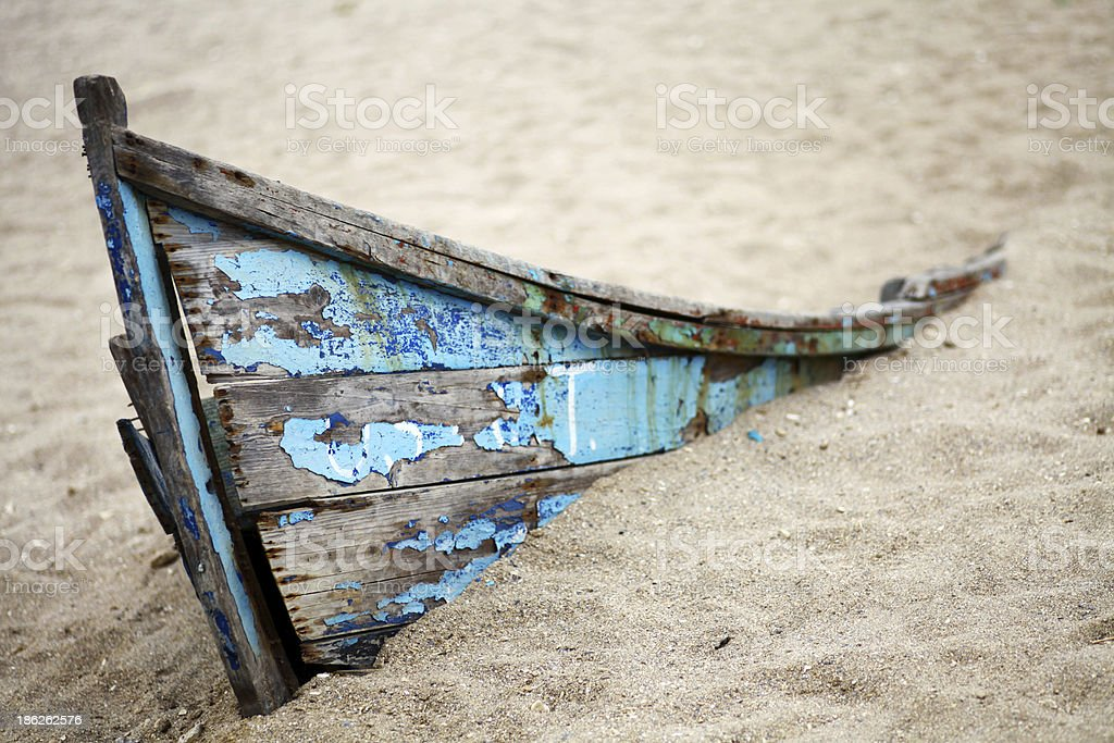 Abandoned boat royalty-free stock photo