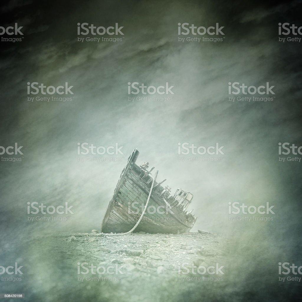 Abandoned Boat Wreck stock photo