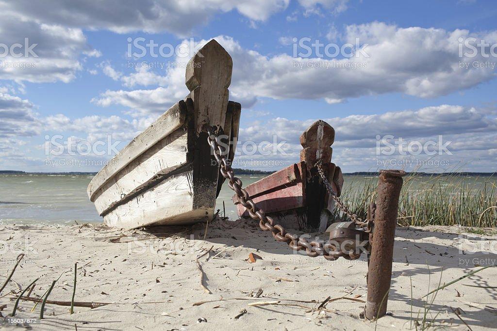 Abandoned boats royalty-free stock photo