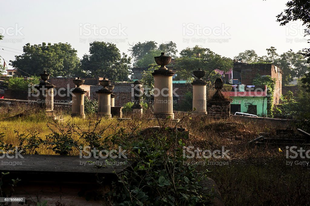 Abandoned British graveyard at Chunar, Uttar Pradesh, India stock photo