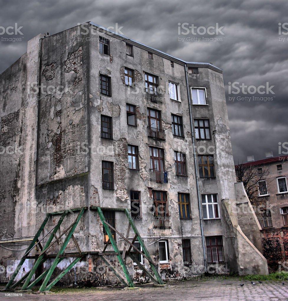 Abandoned, Broken Building royalty-free stock photo
