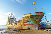 Abandoned broken ship