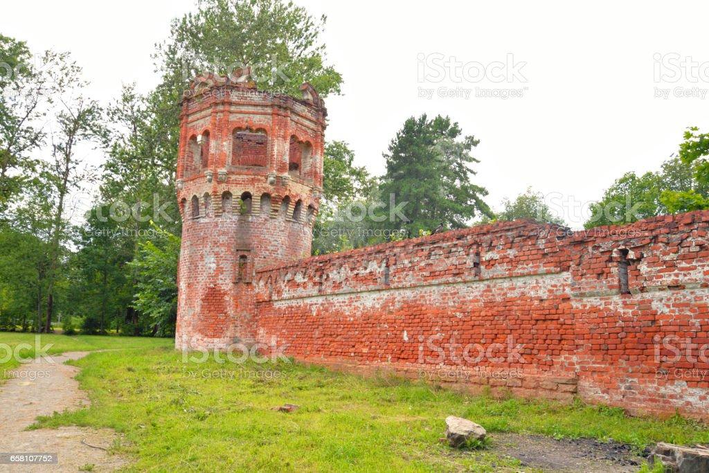 Abandoned building in Feodorovsky gorodok. stock photo