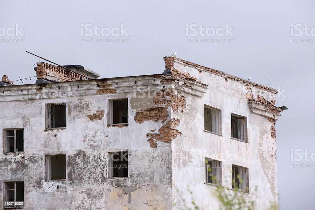Abandoned Building in ghost town stock photo